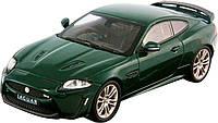 Авто-конструктор JAGUAR XKR-S Bburago темно-зеленый, 1:24 (18-25118)