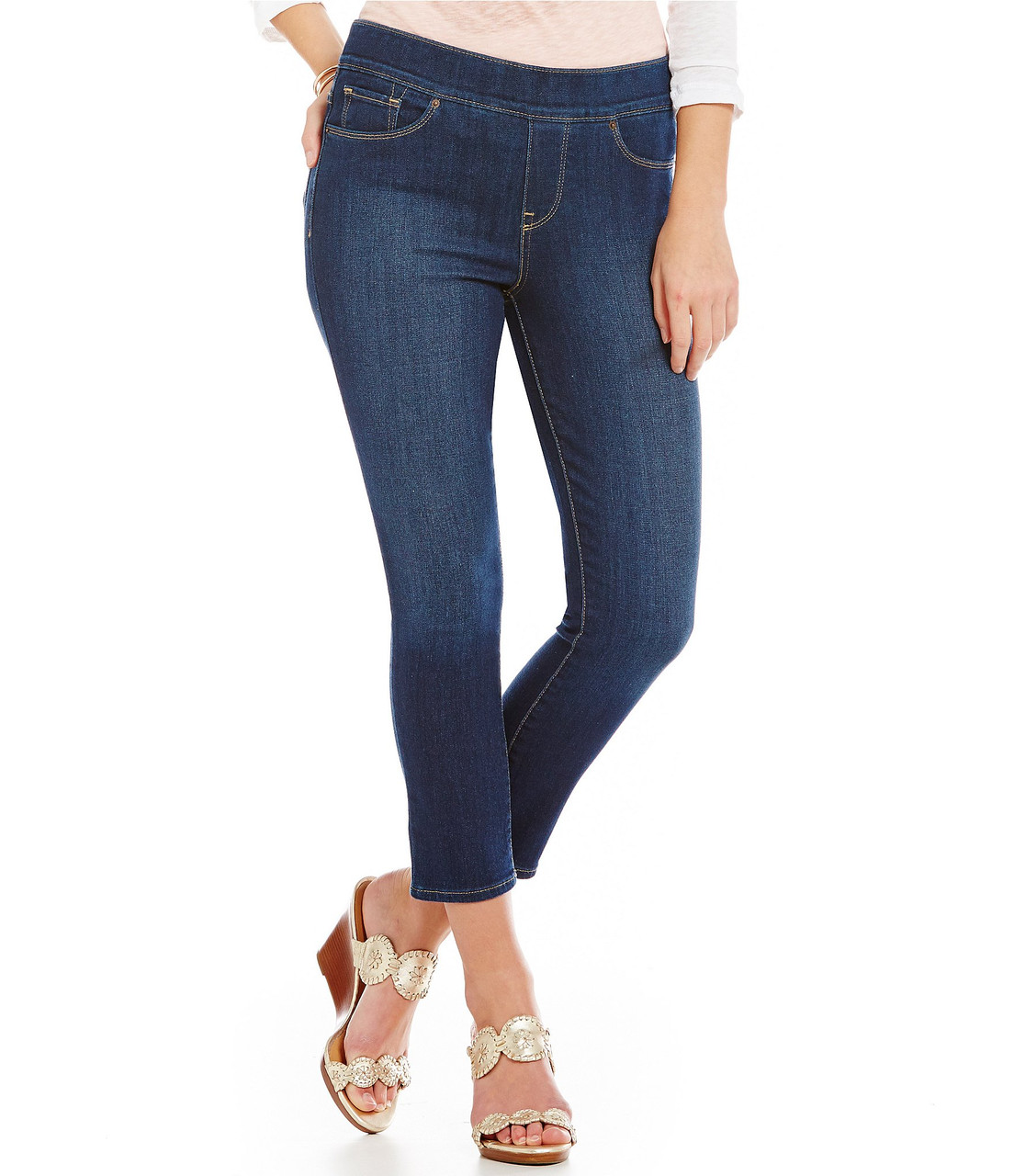 Джинсы Levi's Perfectly Slimming on Cropped Jeans, Dark Delight
