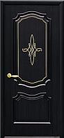 """Двери межкомнатные глухие ПВХ с гравировкой GOLD """"РОКА"""""""