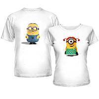 Парные футболки с миньонами