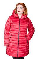 Куртка зимняя размер плюс женская Катрина красный