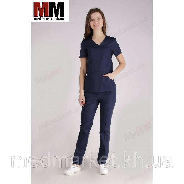 3ae408320b6 Медицинский костюм Сидней (синий) №1024