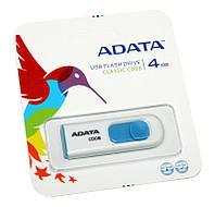 USB Flash Drive 4Gb A-DATA C008 White / AC008-4G-RWE (-)