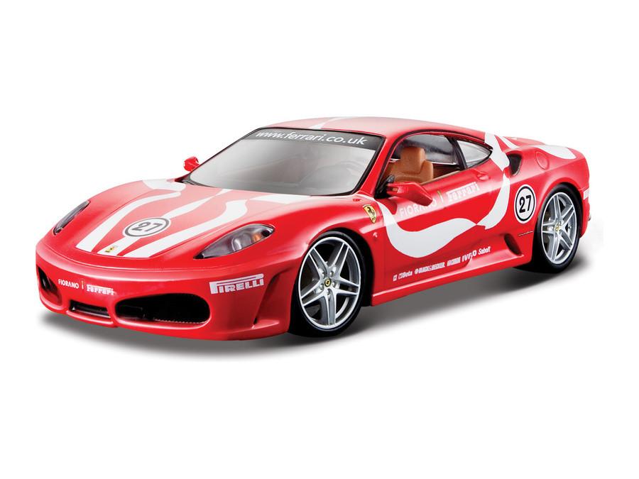 Автомодель  Ferrari F430 Fiorano Bburago желтый, красный, 1:24 (18-26009)