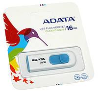 USB Flash Drive 16Gb A-DATA C008 White / AC008-16G-RWE (-)