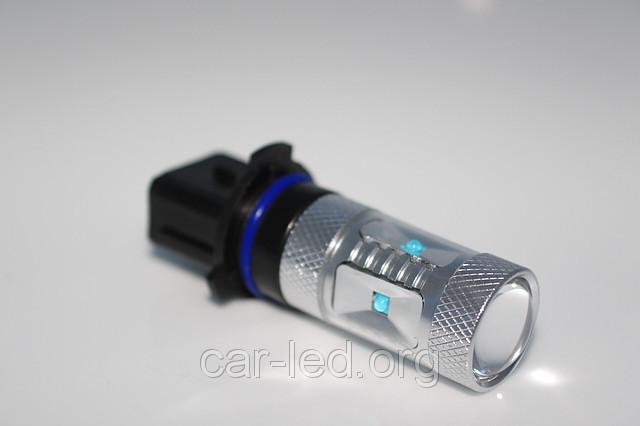 Светодиодная автолампа P13 / PSX26W, 30W (700Lm), WARM 3300K (6 LED 5W CREE) + Линза