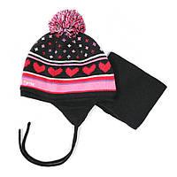 Зимняя шапка+манишка для девочки PELUCHE 18 ACC M F16 . Размер 12/24м и 2/3.