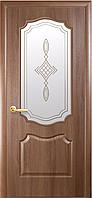 """Двери межкомнатные филенчатые ПВХ с рисунком на стекле """"ВЕНЗЕЛЬ"""""""