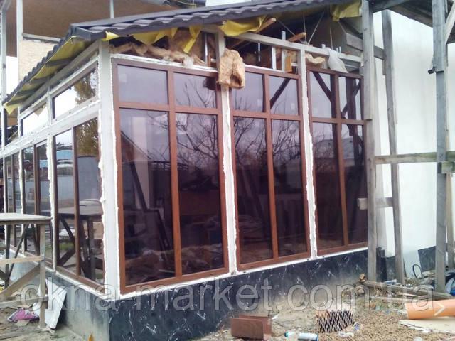 Ламинированные пластиковые окна для дачи в Киеве, компания ОКНА МАРКЕТ