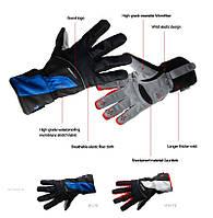 Перчатки зимние Robesbon красные, синие для велосипеда, лыж, сноуборда