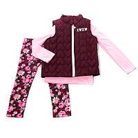Зимний костюм тройка для девочки XOXO 4 года