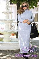 Женское теплое платье больших размеров (48-90) арт. Мэрил