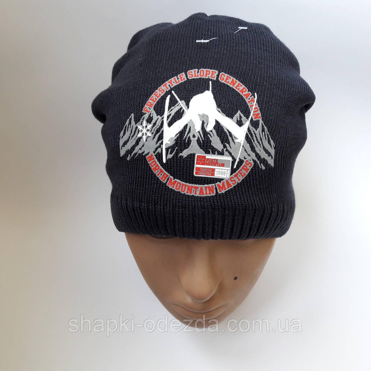 детская зимняя вязаная шапка для мальчика на флисе от 7 12 лет лет