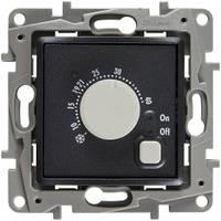 Термостат с датчиком для теплого пола, антрацит - Legrand Etika
