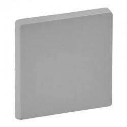 Лицевая панель 1-клавишного простого, проходного и кнопочного выключателей, алюминий - Legrand Valena Life