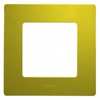 Рамка на 1 пост, зеленый папоротник - Legrand Etika