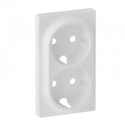 Лицевая панель двойной розетки с заземлением, белый - Legrand Valena Life