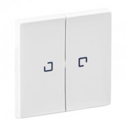 Лицевая панель 2-клавишных выключателей с подсветкой, белый - Legrand Valena Life