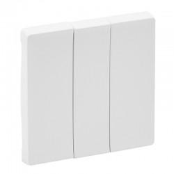 Лицевая панель 3-клавишного выключателя, белый - Legrand Valena Life