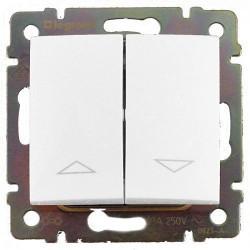 Выключатель управления жалюзи с электрической блокировкой 10А Legrand Valena белый 774414