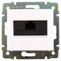 Розетка компьютерная RJ45 кат.6 UTP, 1-гнездо, белый - Legrand Valena