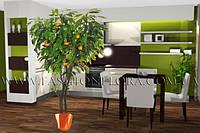Мандариновое дерево, искусственные растение