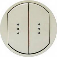 Лицевая панель 2-клавишных выключателей с подсветкой, широкие клавиши, слоновая кость - Legrand Celiane