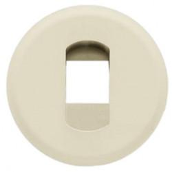 Лицевая панель акустической розетки, одинарная, слоновая кость - Legrand Celiane