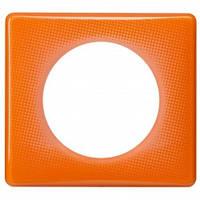 Рамка на 1 пост, оранжевый муар - Legrand Celiane