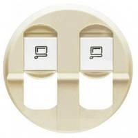 Лицевая панель компьютерной розетки, двойная, слоновая кость - Legrand Celiane