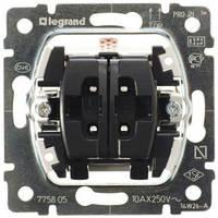 Механизм выключателя 2-клавишный - Legrand Galea Life