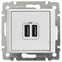 Зарядное устройство с USB-разъемами, 2-гнезда, 1500 мA, белый - Legrand Valena
