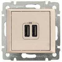 Зарядное устройство с USB-разъемами, 2-гнезда, 1500 мA, слоновая кость - Legrand Valena