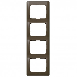 Рамка на 4 поста вертикальна, темна бронза - Legrand Galea Life