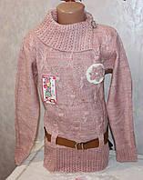 Модная туника на девочку с поясом 6 лет