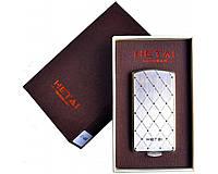 Зажигалка подарочная HETAI с голосовым управлением (спираль накаливания, USB) №4688-2 SO