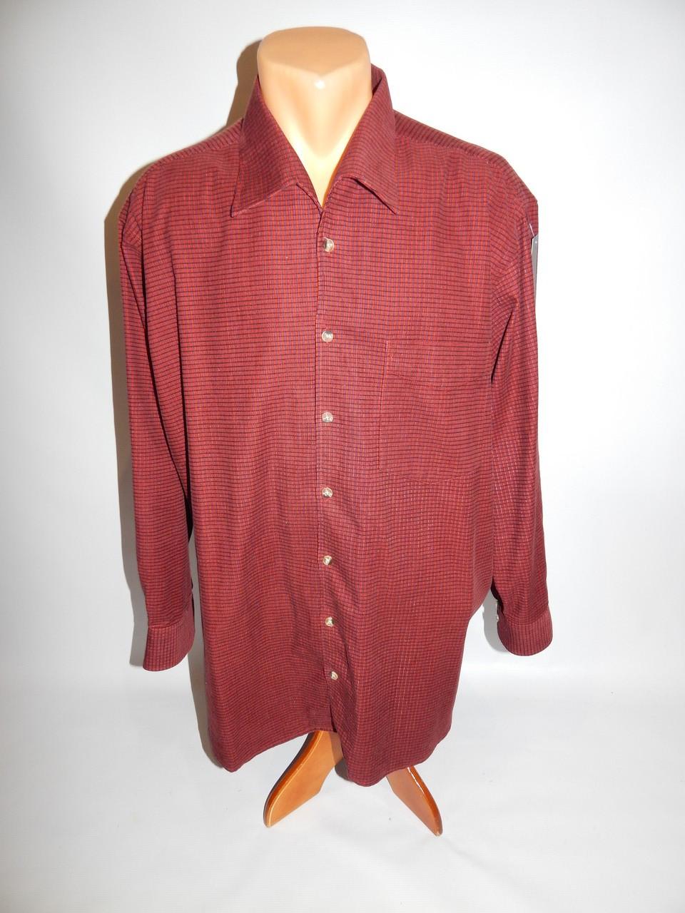 Теплая мужская рубашка микровельвет Trelegant XL 094Рт
