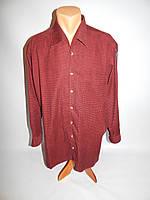 094Рт Теплая мужская рубашка микровельвет Trelegant