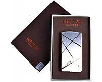Зажигалка подарочная HETAI с голосовым управлением (спираль накаливания, USB) №4688-3 SO