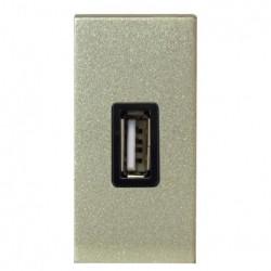Зарядное устройство USB, 1-модуль, шампань - ABB Zenit