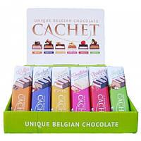 Cachet Белый шоколад c ореховым кремом 75 г (Бельгия)