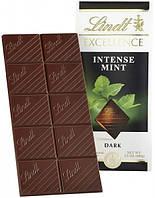 Lindt Intense Mint Темный шоколад с ментолом 100 г (Швейцария)
