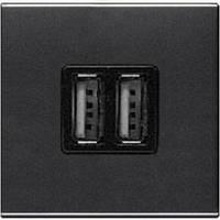 Зарядное устройство USB, 2-модуля, антрацит - ABB Zenit