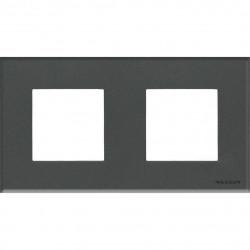 Рамка на 2 поста, стекло графит - ABB Zenit