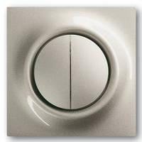 Лицевая панель механизмов 2-клавишных выключателей, шампань-металлик - Abb Impuls