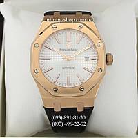 Элитные мужские наручные часы Audemars Piguet ROYAL OAK Gold White