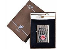 Зажигалка подарочная JAGUAR (спираль накаливания, USB) №4705 SO
