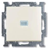 Выключатель 1-клавишный с подсветкой, chalet-белый - Abb Basic 55