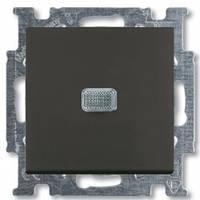 Выключатель 1-клавишный с подсветкой, chateau-черный - Abb Basic 55