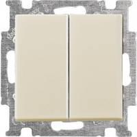 Выключатель 2-клавишный, слоновая кость - Abb Basic 55